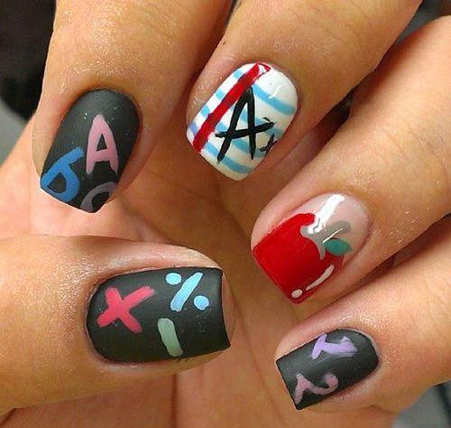 25+ trending School nail art ideas on Pinterest   Nail art for fall, Nail  ideas for fall and Nails for kids - 25+ Trending School Nail Art Ideas On Pinterest Nail Art For