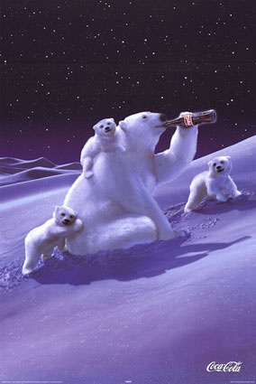 Coke Ad, you have to love the Coca-Cola bears.     ........  #coke ....... #coca-cola