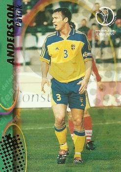 2002 Panini World Cup #104 Patrik Andersson Front