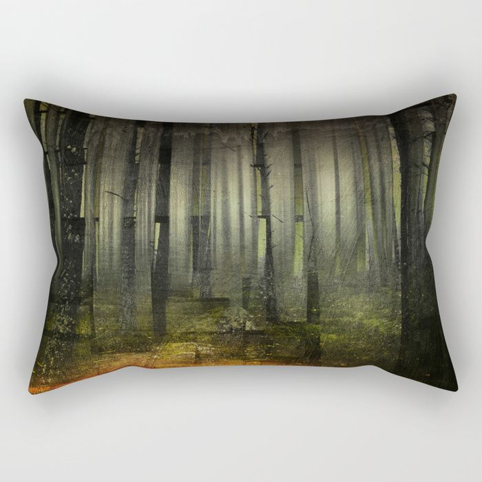 Why am I here Rectangular Pillow by HappyMelvin. #nature #darkforest #forests #original #homedecor #pillows #pillow