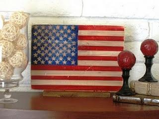 I love this vintage American flag