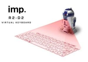 R2D2 virtual keyboard STARWARS Starwars fans will love this. Starwars favorite cheeky droid projects, a virtual keyboard. It works with iPhone, iPod, iPad, Android, smartphones and tablets, and Windows.  http://awsomegadgetsandtoysforgirlsandboys.com/awesome-gadgets-for-guys/ Awesome Gadgets For Guys: R2D2 virtual keyboard STARWARS