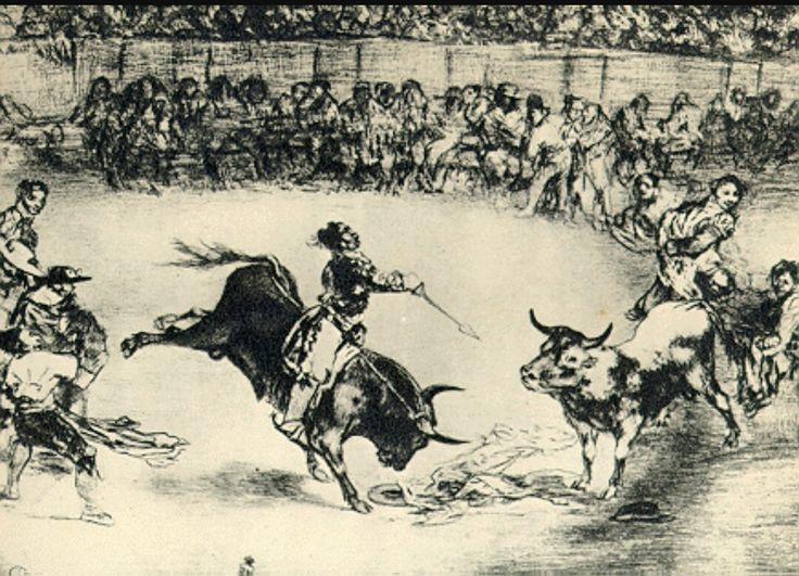 La tauromaquiaes una serie de 33grabadosdelpintorespañolFrancisco de Goya, publicada en1816. A la serie hay que añadir otras 11 estampas, llamadasinéditaspor no incluirse en aquella primera edición a causa de pequeños defectos, aunque son igualmente conocidas.
