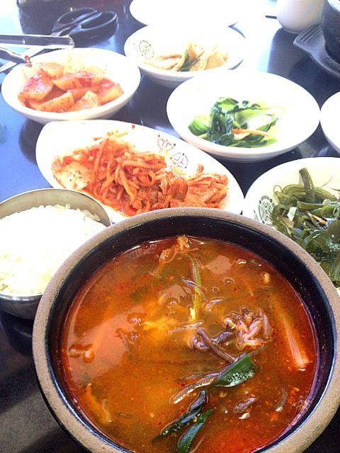 レシピとお料理がひらめくSnapDish - 26件のもぐもぐ - ユッケジャンスープとご飯お代わり by yuk