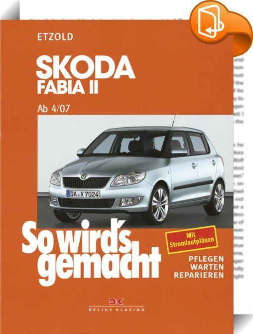"""Skoda Fabia II ab 4/07    :  Der beliebte Kleinwagen mit seiner Solidität und einem hohen Nutzwert bei vergleichsweise geringen Anschaffungskosten wurde gegenüber dem Vorgängermodell nur geringfügig verändert. Die Ausstattungsvarianten """"Limousine"""" und """"Kombi"""" zeichnen sich beim Fabia II durch ihr großes Ladevolumen aus. Der Wagen ist in sieben Benzin- (60–180 PS) und sieben Dieselvarianten (70–105 PS) erhältlich.Der hier vorliegende Band 150 in der Reihe """"So wird's gemacht"""" ist die For..."""