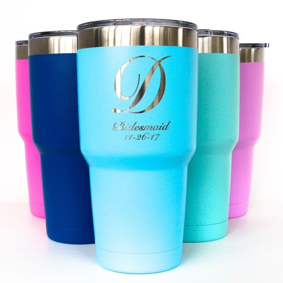 Engraved Insulated #Tumbler 30oz Powder Coated The powder coated tumblers come in bright colors that engrave great. Who would not love a gift of our brand new colorful tumb... #thepersonalexchange #monogram #accessories #bartender #blue #cup #graduation #housewares #kitchen #lavender #mint #monogrammed #personalized #pink #present #purple #red #tumbler #turquoise #wine #yeti ➡️…