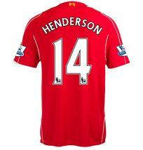 14-15 Cheap Liverpool Football Shirt HENDERSON #14 Home Replica Jersey [1408120259]