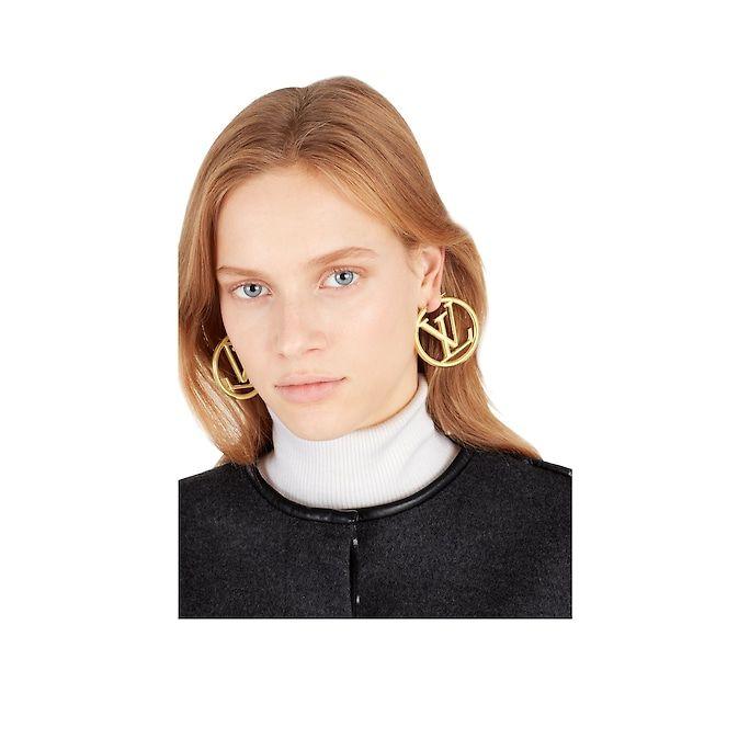 43ab9c0be2 Louise Hoop Earrings   wishlist   Hoop earrings, Louis vuitton, Earrings