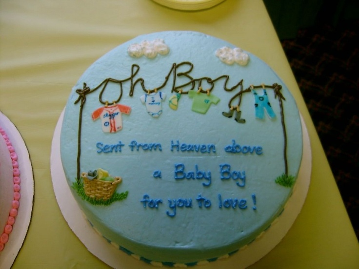 so cute...baby boy shower cake