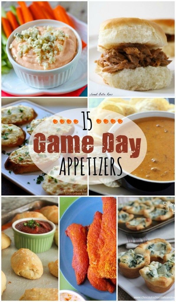 15 Game Day Appetizers perfect to please