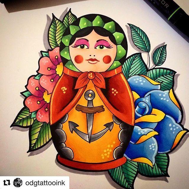 Ven a Mithos Tattoo y plasma tu idea con la ayuda de Edgardo García del #mithostattooteam #Repost @odgtattooink (@get_repost) ・・・ Ilustración en marcadores prisma color de matrushka con rosas a estilo neo tradicional,diseño unipersonal para que lleves el buen arte en tu piel @odgtattooink @mithostattoo @emiliobodymod @americamazzzing @yitselramirez #ilustracion #prismacolor #odg #odgtattooink #diseño #tatuajes #tattoo #tinta #ink #inked #profesional #internasional #rockstar #estilo #style…