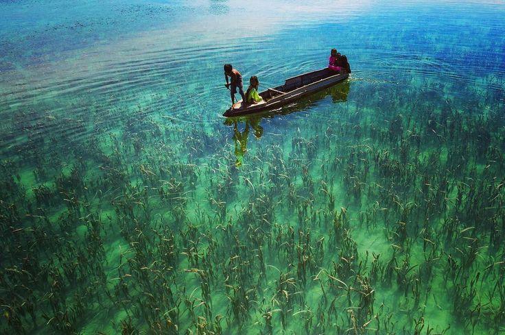 Children of the sea #bajau #bajaulaut #semporna #sabah #malaysia #children #boat #sea #waterplant #clearwater #discover #explore #exploretheworld #travelphotography #travel #travelgram #traveller #photographer #photography #photo #nature #life #people #environment