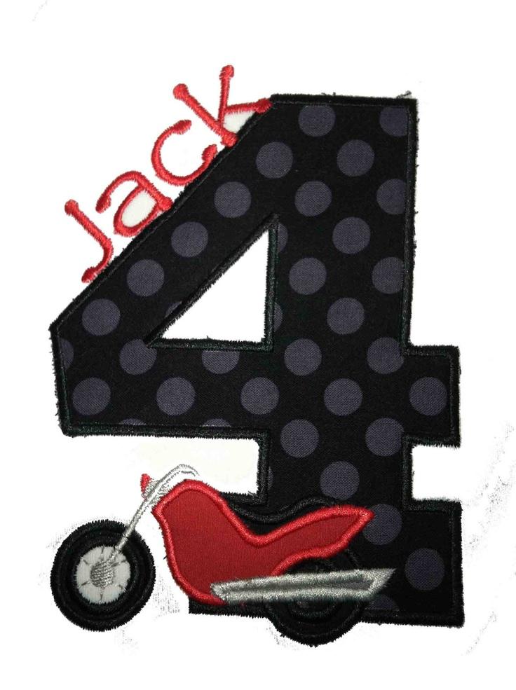 Motorcycle Birthday Number Shirt or Onesie - Custom Monogrammed. $20.00, via Etsy.