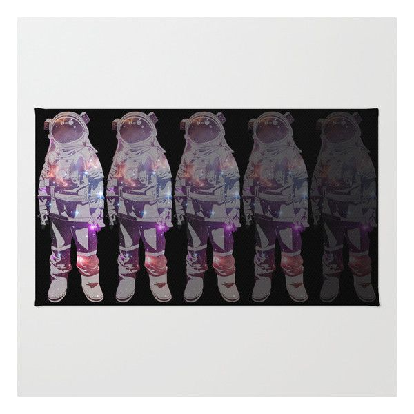 Cosmic Explorer The Astronaut Rug 28 Liked On Polyvore Featuring Home Washable Area Rugsmachine