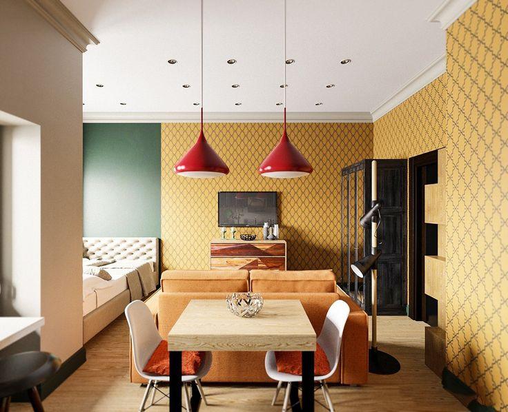 Дизайн-проекты квартир: готовые решения для идеального интерьера http://happymodern.ru/dizajn-proekty-kvartir-gotovye/ Бюджетная теплая отделка в оттенках шафрана в миниатюрной квартире-студии Смотри больше http://happymodern.ru/dizajn-proekty-kvartir-gotovye/