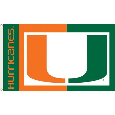 Miami Hurricanes 3'x5' Flag, Multicolor