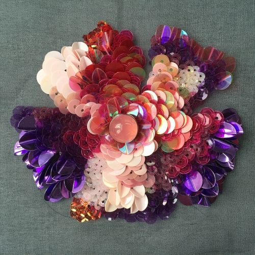 #jijahng #textile #embellishment #embroidery #fashion #beading #sequins #flower