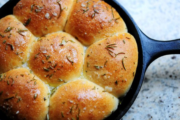 PW Rosemary Dinner Rolls ... Rae actually used Rhode's frozen rolls. Don't skip the rising time, fresh rosemary, or coarse sea salt
