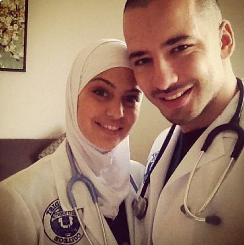 Both Of Them Have The Same Job. Soo cute! Hope they're blesses with a happy marriage xx