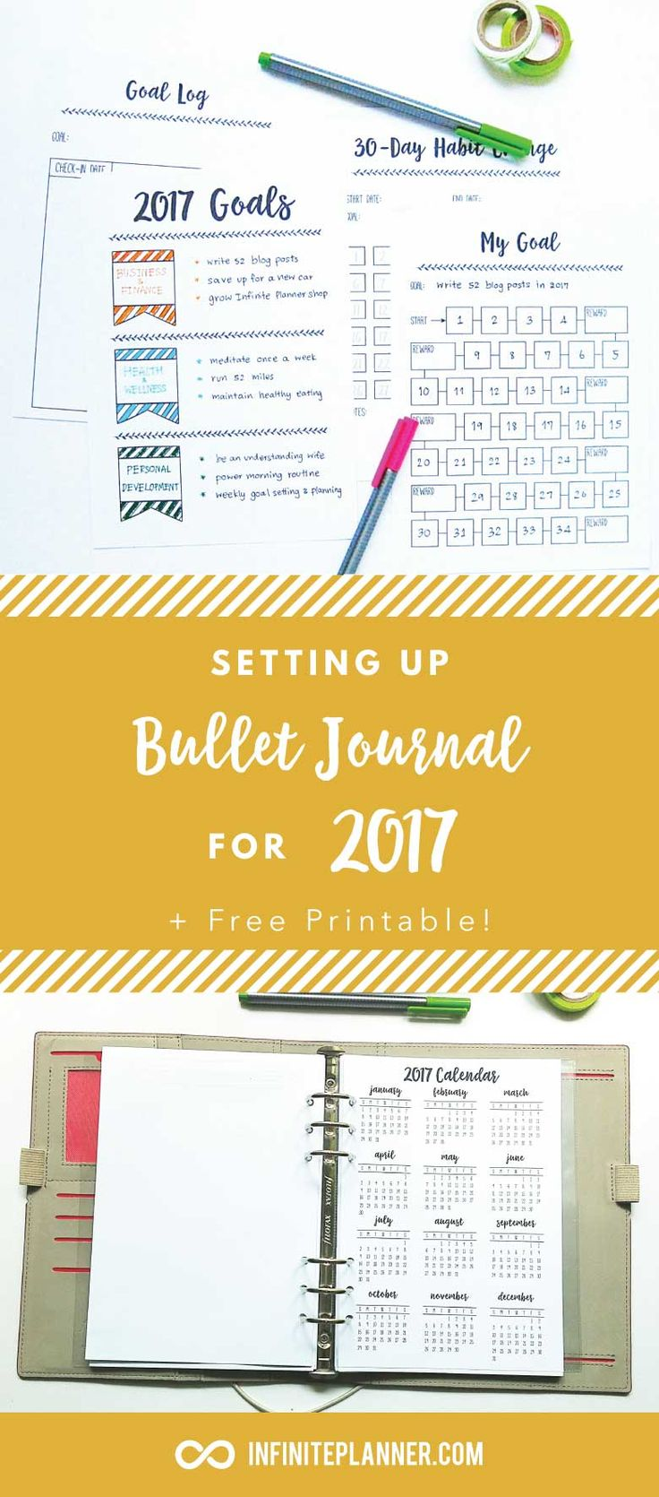 Setting up Bullet Journal for New Year (2017)