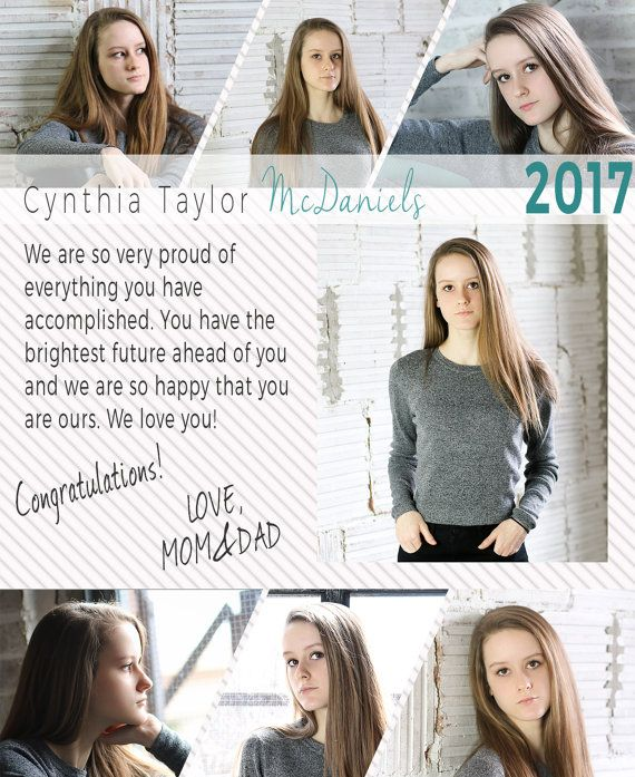 9 Best Kristin & Co. Graduation / Senior Announcement Templates