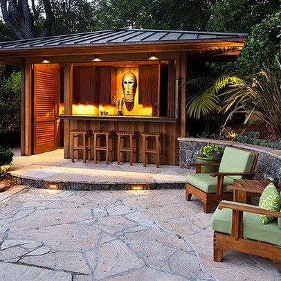 Outdoor Tiki Bar Design, Pictures, Remodel, Decor And Ideas