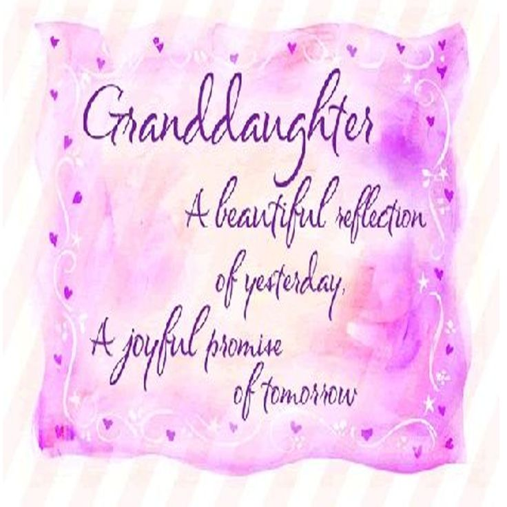 Granddaughter Nieta un hermoso reflejo de ayer Una alegre promesa dlgrane mañana