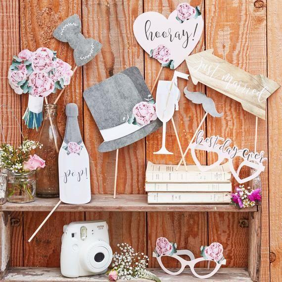 Foto Accessoires Hochzeit Fotobox Bilder Deko Rose Etsy Wedding Photo Props Rustic Wedding Photos Wedding Photo Booth Props
