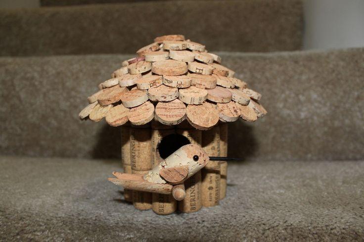 Bird House Wine Cork Art Pinterest Bird Houses House And Birds