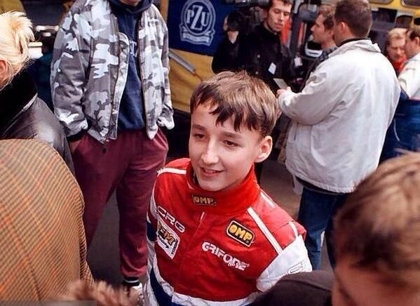 A very young Robert Kubica