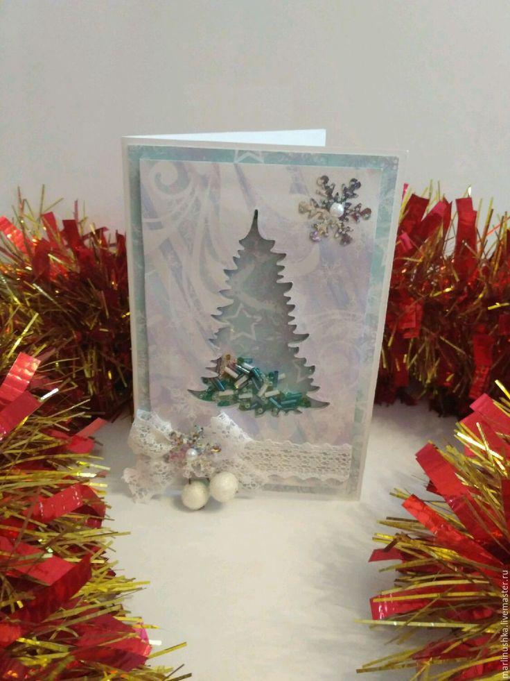 Купить Открытка с новым годом шейкер - открытка с новым годом, Открытка на новый год