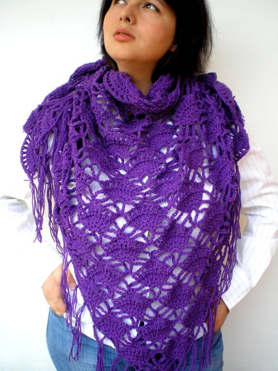 Sharon Triangular Scarf Super Soft mixed   Wool Shawl by NonnaLia, $67.00