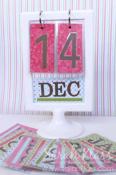 Crafty Calendar Idea! I love it!