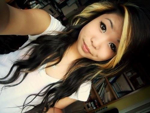 Black And White Hair Styles: I Really Like The Placement Of The Blonde On Top Of The