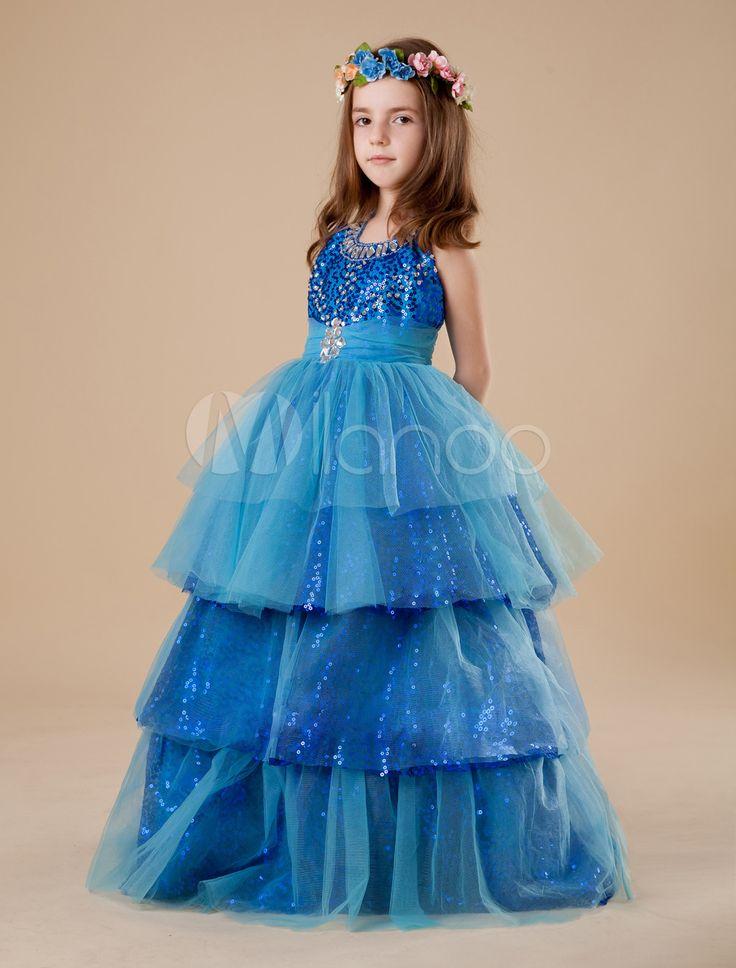 #Milanoo.com Ltd          #Girls Pageant Dresses    #Blue #Jewel #Neck #Floor-Length #Sequin #Ball #Gown #Girls #Pageant #Dress   Blue Jewel Neck Floor-Length Sequin Ball Gown Girls Pageant Dress                                       http://www.seapai.com/product.aspx?PID=5681529