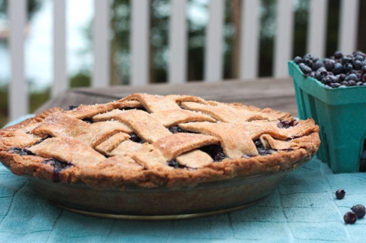 Blueberry Pie with a Heart-Healthy Crust (Vegan) Blauwe bessen taart - veganistisch