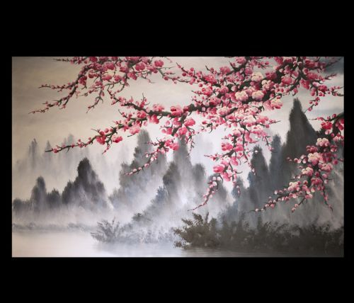 Modern-Wall-Art-Paintings-Art-Prints-On-Canvas-Japanese-Cherry-Blossom-Painting