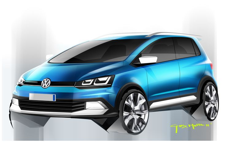 2014   Volkswagen CrossFox   Render by Gustavo Motta  