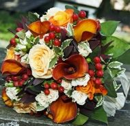 Touch of Fall Bridal Bouquet - Touch of Fall Bridal Bouquet > View Full-Size I... | Purchased, Bouquet, Aud, Touch, Fall | Bunc