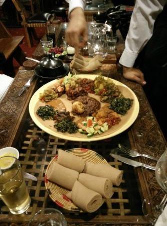 Lalibela, Ethiopian Restaurant, London.