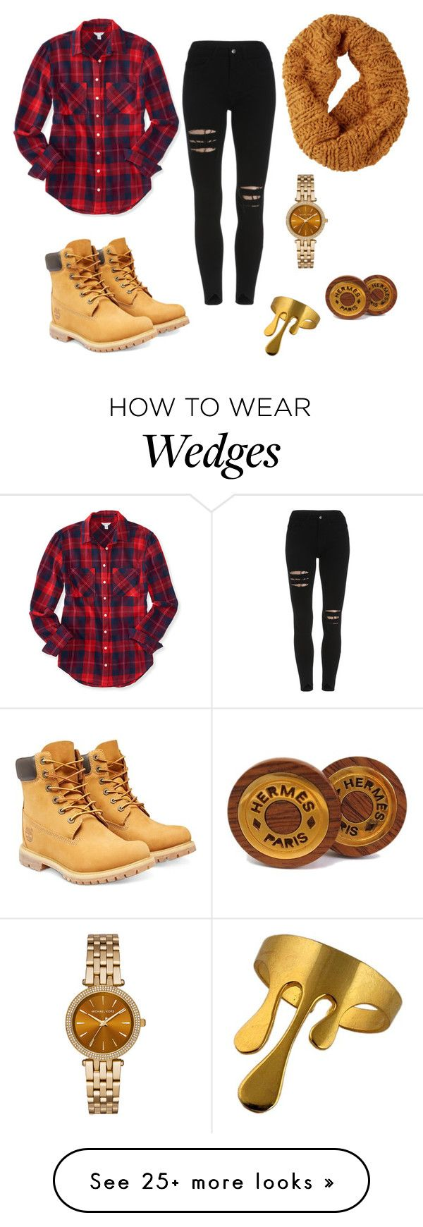 """Untitled #65"" by lexiilexi on Polyvore featuring Aéropostale, Timberland, Burton, Hermès and Michael Kors"
