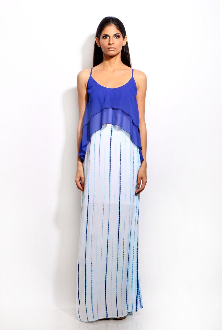 Change360° online shopping- Layered Maxi dress  #layered #maxi #blue #white #tie-dye #straps #dresses #dress #womenfashion #womenswear #style #fashion #women #prints #lovefashion #lovestyle #stylish #modern #westernwear #pinterestfashion #pinterestdaily #Change360store #C360 #change360fashionstore #Change360 #onlinefashionbrand #changelifestye #Indianfashion #Mumbai #India