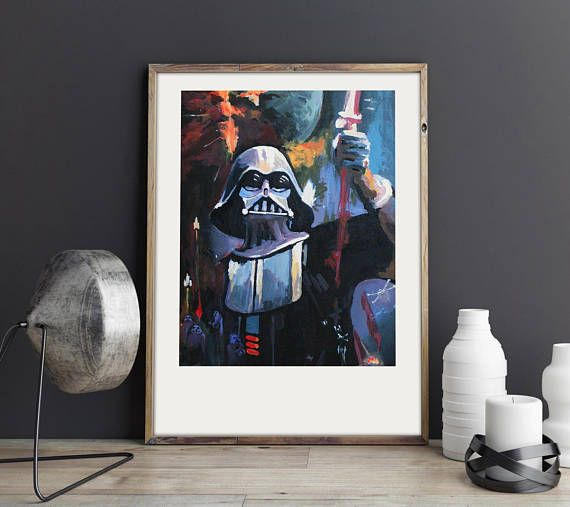 May the force be with you Darth Vader poster Star Wars.