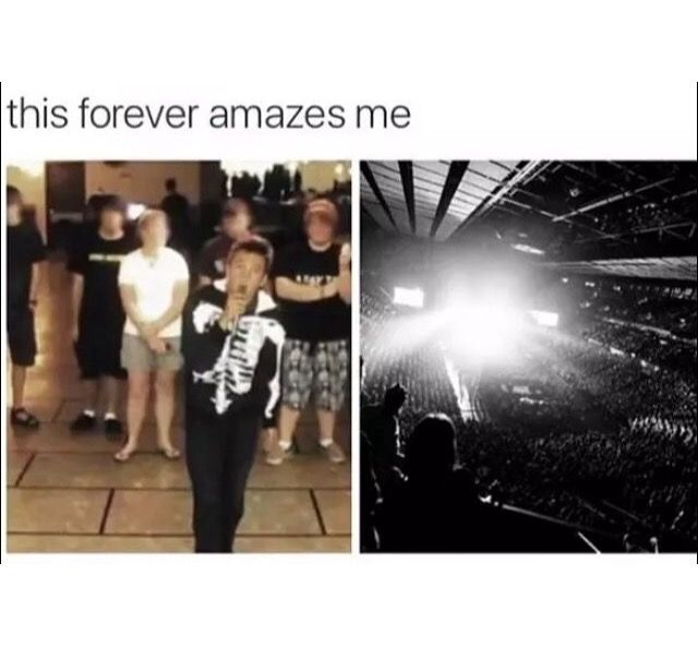 And he's still doing the same thing, just in front of more people :)