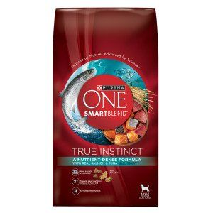 Purina ONE SmartBlend True Instinct with Real Salmon and Tuna Adult Premium Dog Food 27.5 lb. Bag * You can find more details by visiting the image link. (This is an affiliate link and I receive a commission for the sales)