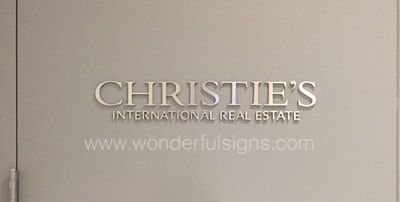 Wonderful Signs New York - Full Service Architectural, Office and Business Signs - New York Sign Company, ADA signs, vinyl decals, plaques, metal letters, banners, large prints