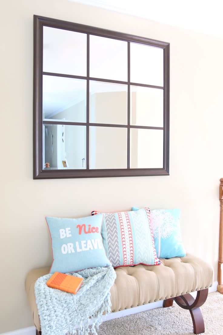 Build A Beautiful Window Pane Mirror