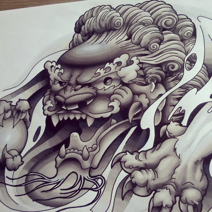 Chinese Foo Dog B+G Design