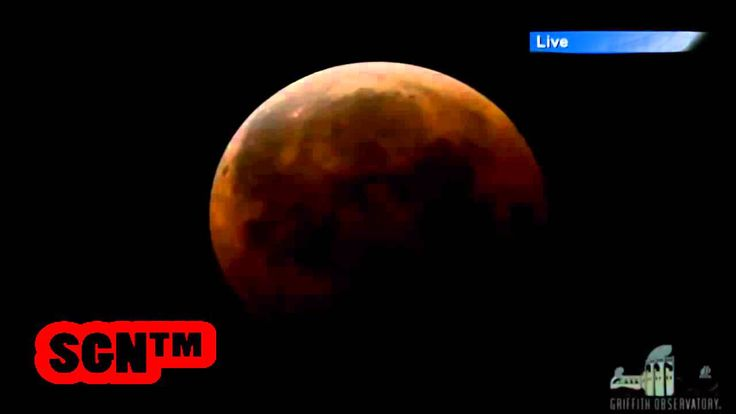 Rare Total Lunar Eclipse of October 8th, Blood Moon Time lapse Footage Live