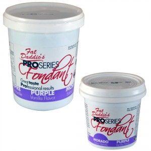 Fat Daddios Rolled Fondant - Purple - Vanilla - 8 oz Golda's Kitchen